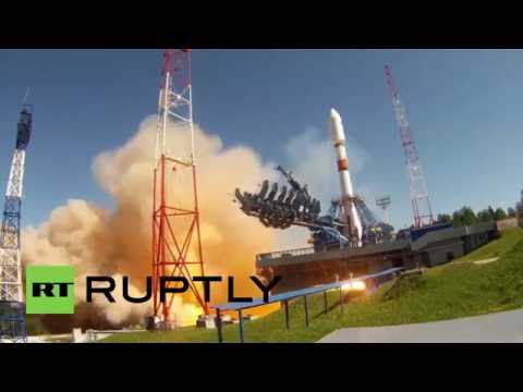 Russia: Soyuz-2.1B rocket lifts off carrying Glonass-M satellite