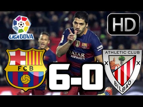 Barcelona 6-0 Athletic Club| RESUMEN Y GOLES HD| LA LIGA| 17-01-2016