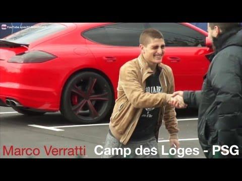 Marco Verratti en Audi Q5 au Camp des Loges - PSG