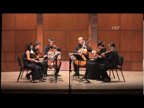 Brahms Sextet, excerpt, Kawasaki, Carroll performed on Landon's violas