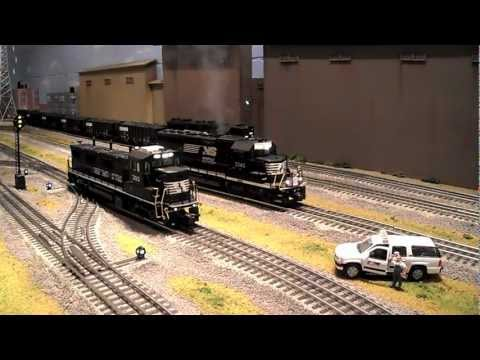 Norfolk Southern on MY LAYOUT!!!   Lionel Legacy & MTH DCS