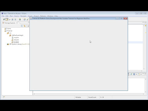 How to make a 2D Platform game in Java? Tutorial Episode 1