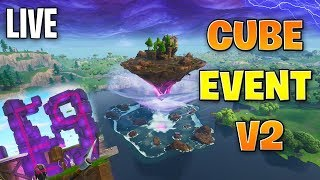 🔴 Fortnite: CUBE EVENT v2 LIVE WATCH! (30 Minutes) | !join | Super Chat ENABLED! ✔
