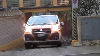 Partenza Ambulanza + Automedica Croce Gialla Falconara / Italian Ambulance + ALS Car in Emergency