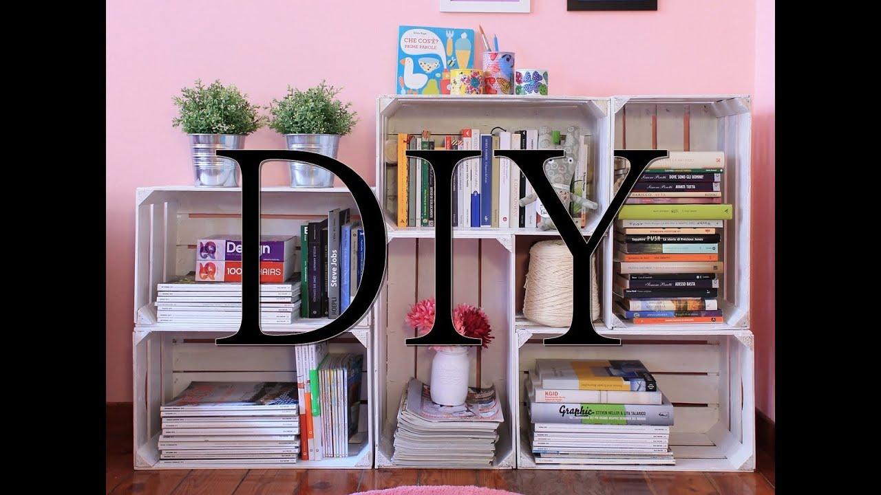 Diy tutorial come creare una libreria fai da te con le - Mobiletto fai da te ...