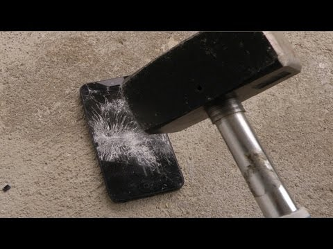 Apple iPhone 5 Review - Hammer Drop Test