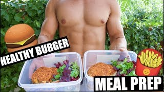 LUNCH MEAL PREP | HEALTHY BURGER & FRIES | JON VENUS