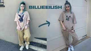 a billie eilish transformation (dying my hair, outfit...)