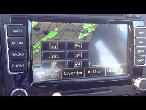 How to overlay weather on the maps  in your 2012 Volkswagen with navigation RNS510