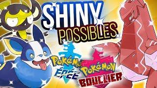 POSSIBLES SHINY✨ pour Pokémon Épée & Bouclier : Voltoutou, Charmilly, Charbi...
