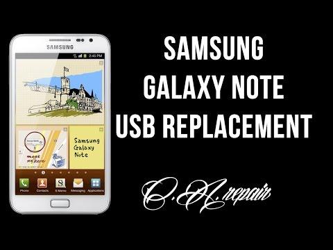 Samsung Galaxy Note N7000 - Non carica. riparazione porta usb / not charging. usb port repair