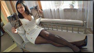 Nearly Black Matt Vs Black Shine Pantyhose Review - Cassie Clarke