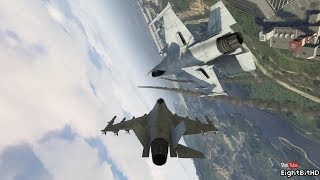 GTA 5 DOGFIGHT ACTION - P-996 Lazer - Fighter Jet #1
