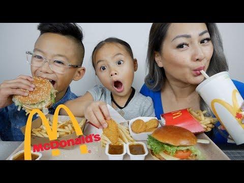 McDonald's Asiago Bacon Crispy Chicken & BIG Mac Burger | Mukbang | N.E Let's Eat