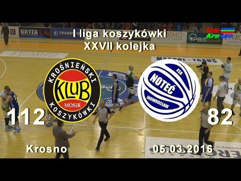 Koszykówka: Miasto Szkła Krosno - KSK Noteć Inowrocław (cały Mecz)