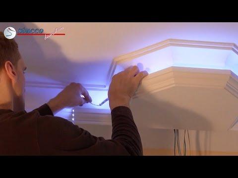 Installation von Licht (Halogen & LED) Spots in der Decke des Badezimmer