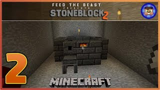 StoneBlock 2 Modpack Ep 2 - Lets make a Smeltery