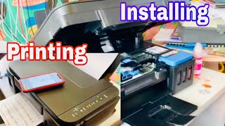 01. CANON PIXMA G3600 PRINTER /HOW TO;  INSTALL,  PRINT AND PRINT FROM IPHONE
