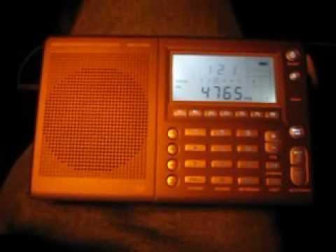 Radio Tajikistan 4765 kHz received in Germany on Etón E5
