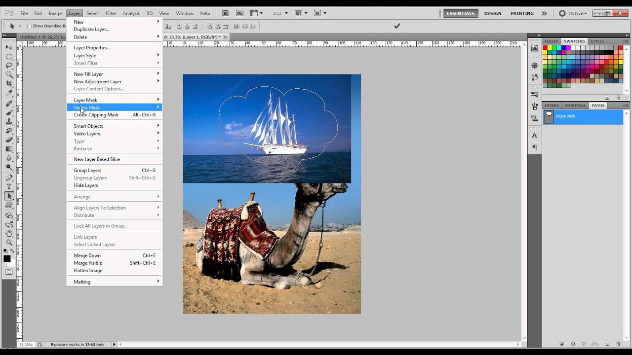 Как в фотошопе сделать текст векторным