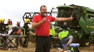 Simulated Farm Accident at De Courcey Harvest Day 2018