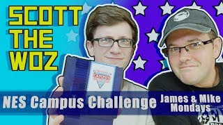 Scott the Woz plays NES Campus Challenge with James and Mike