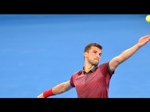 Grigor Dimitrov v Jeremy Chardy highlights (2R) - Brisbane International 2015