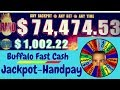 💥Jackpot-Handpay💥Buffalo Fast Cash Slot Machine💥