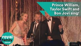 Prince William, Taylor Swift and Bon Jovi sing Livin