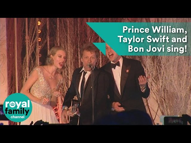 Prince William, Taylor Swift and Bon Jovi sing Livin' On a Prayer - FULL VERSION