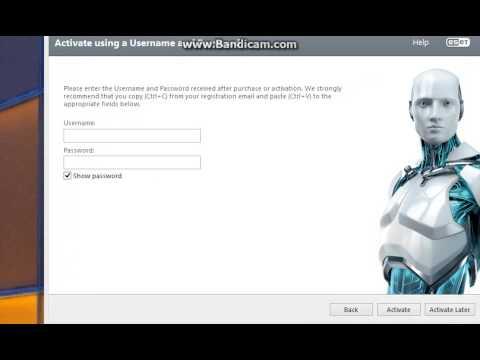 eset nod32 antivirus 7 username and password