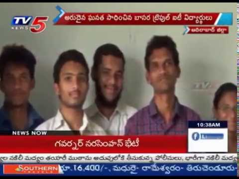 NASA Selects Basara IIIT Students Project - Adilabad : TV5 News