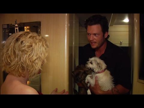 Kellie Pickler babysits for Blake Shelton - CMA Music Festival 2010