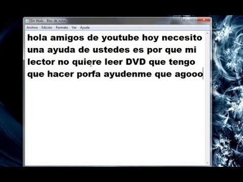 como me ayudan a arreglar mi lector de dvd