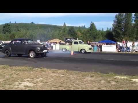 STUDEBAKER PICKUP VS 46' FORD COUPE BILLETPROOF ERUPTION DRAGS TOUTLE, WA 2013