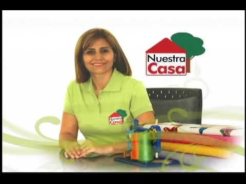 Sonia Franco. Programa Nuestra Casa. Elaboración de Drapeado y Flores 3/5