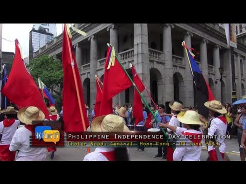 Parade and street dance at the 115th Philippine Independence Day celebration in Hong Kong