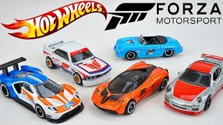 Let's Race IRL Hot Wheels Forza Motorsport 7 Cars! Pagani Huayra Ford GT