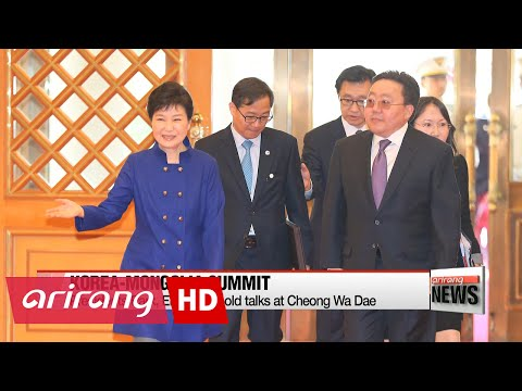 NEWSLINE AT NOON 12:00 Korea, Mongolia agree to expand flights, economic cooperation at summit