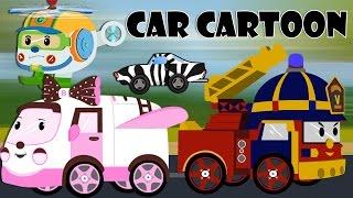 car cartoons for children - Police car cartoon - Fire trucks for children kids - Cartoons for kids