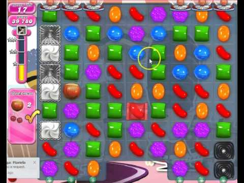 Candy Crush Saga Level 395 Bring down the fruit.
