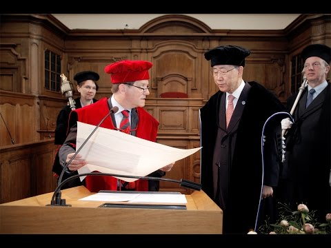 Eredoctoraat / honorary doctorate  Ban Ki-moon
