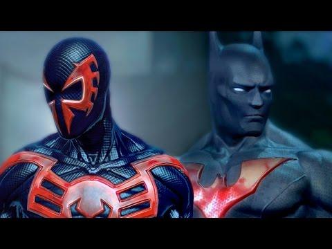 [Альтернативная Концовка]Бэтмен Будущего против Человека-Паука 2099 - БИТВЫ ГЕРОЕВ