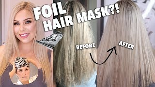 FOIL HAIR MASK ACTUALLY WORKS? MIRENESSE THERMAL MASK REVIEW!