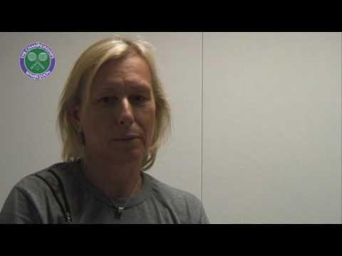 Nine-time Wimbledon champion Martina Navratilova on grunting in tennis