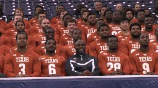 Texas Football team photo at Texas Bowl [Dec. 29, 2014]