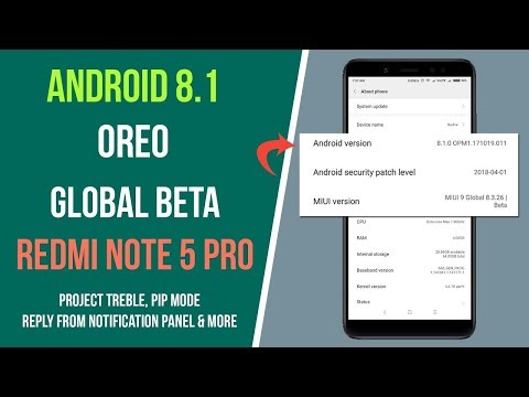 How to Install Official Android 8.1 Oreo on Redmi Note 5 Pro - Top Secret Rom | Smartphone 2torials