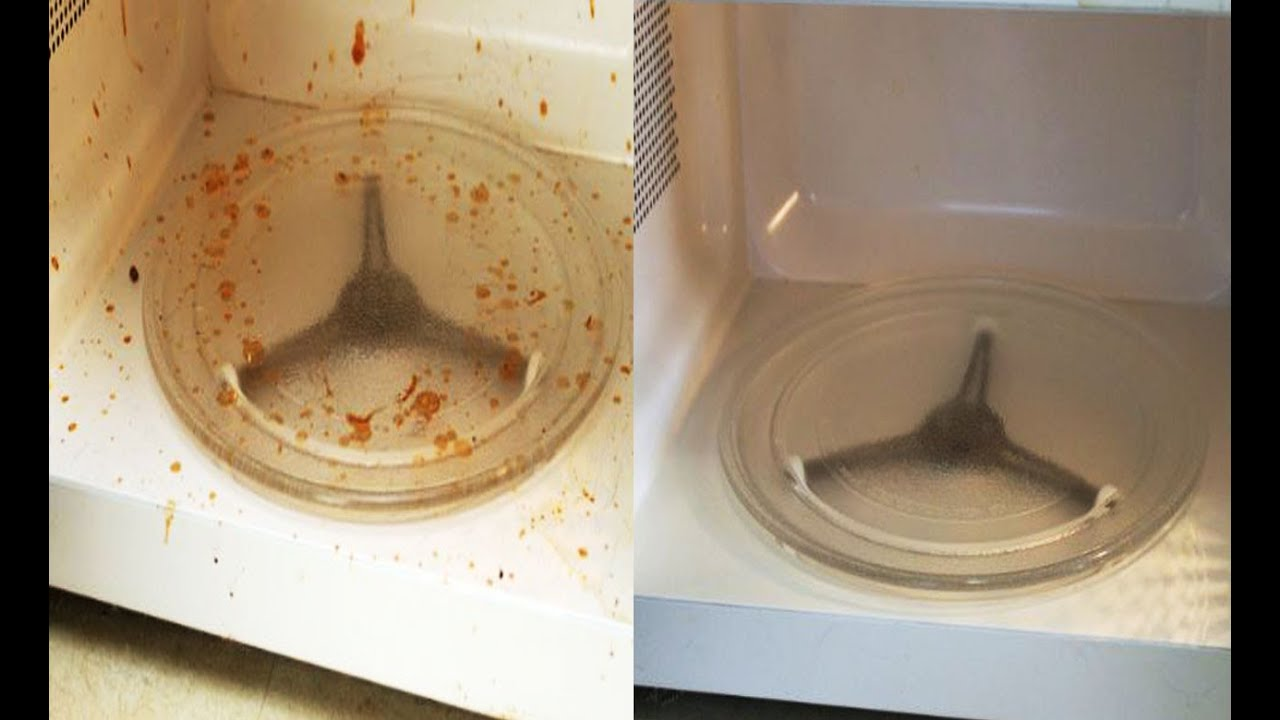 Чистка микроволновки в домашних условиях содой и уксусом