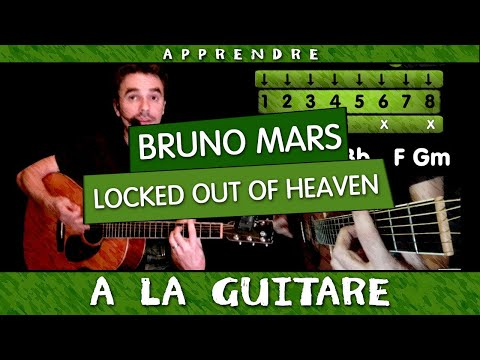 Apprendre  jouer Locked Out Of Heaven de Bruno Mars  - guitare