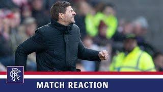 REACTION   Steven Gerrard   Hearts 1-2 Rangers